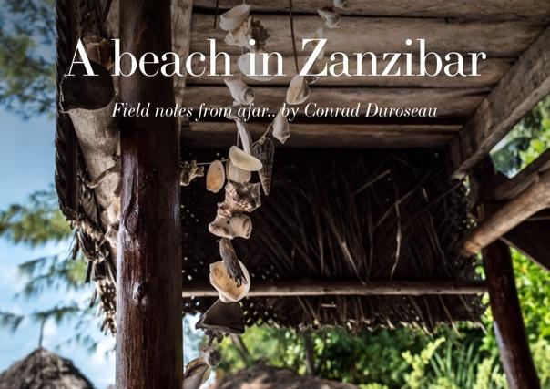 A beach in Zanzibar