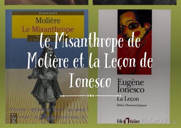 le Misanthrope de Molière et la Leçon de Ionesco