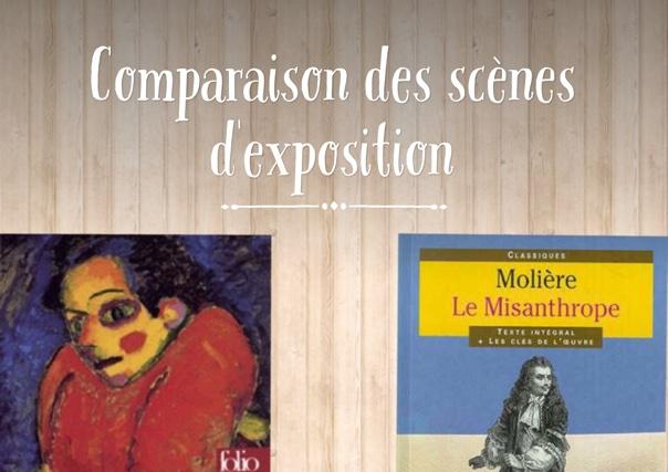 Comparaison des scènes d'exposition
