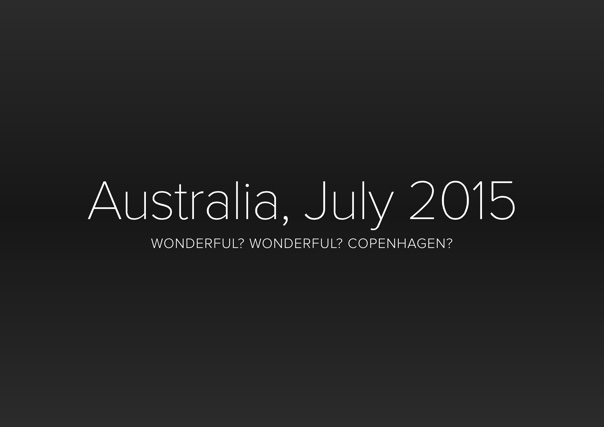 Australia, July 2015