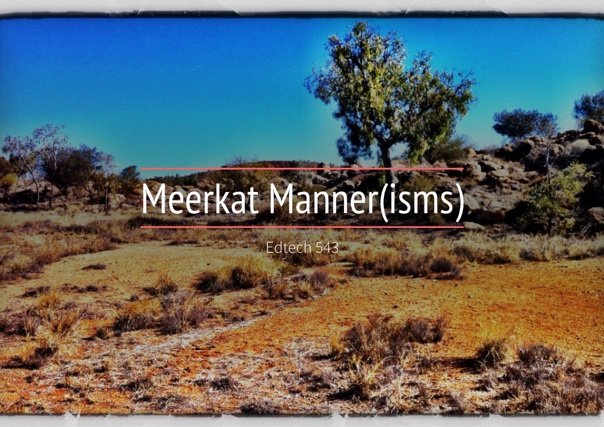 Meerkat Manner(isms)