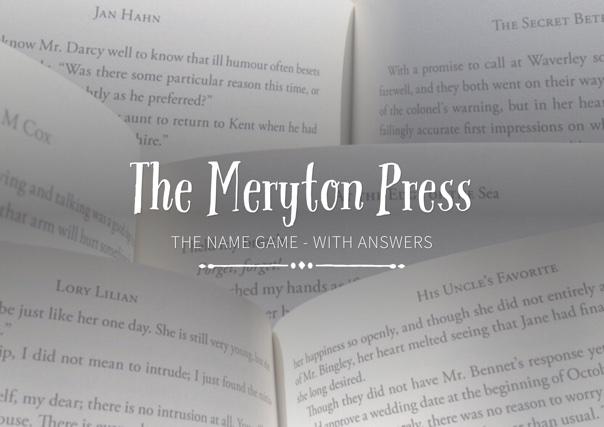 The Meryton Press